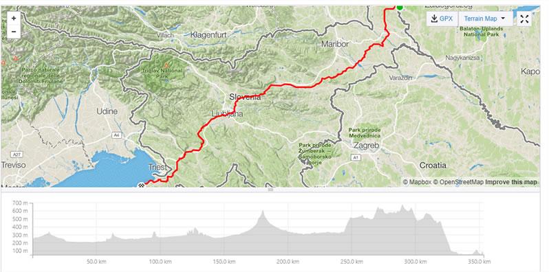 Diagonala Slovenije trasa